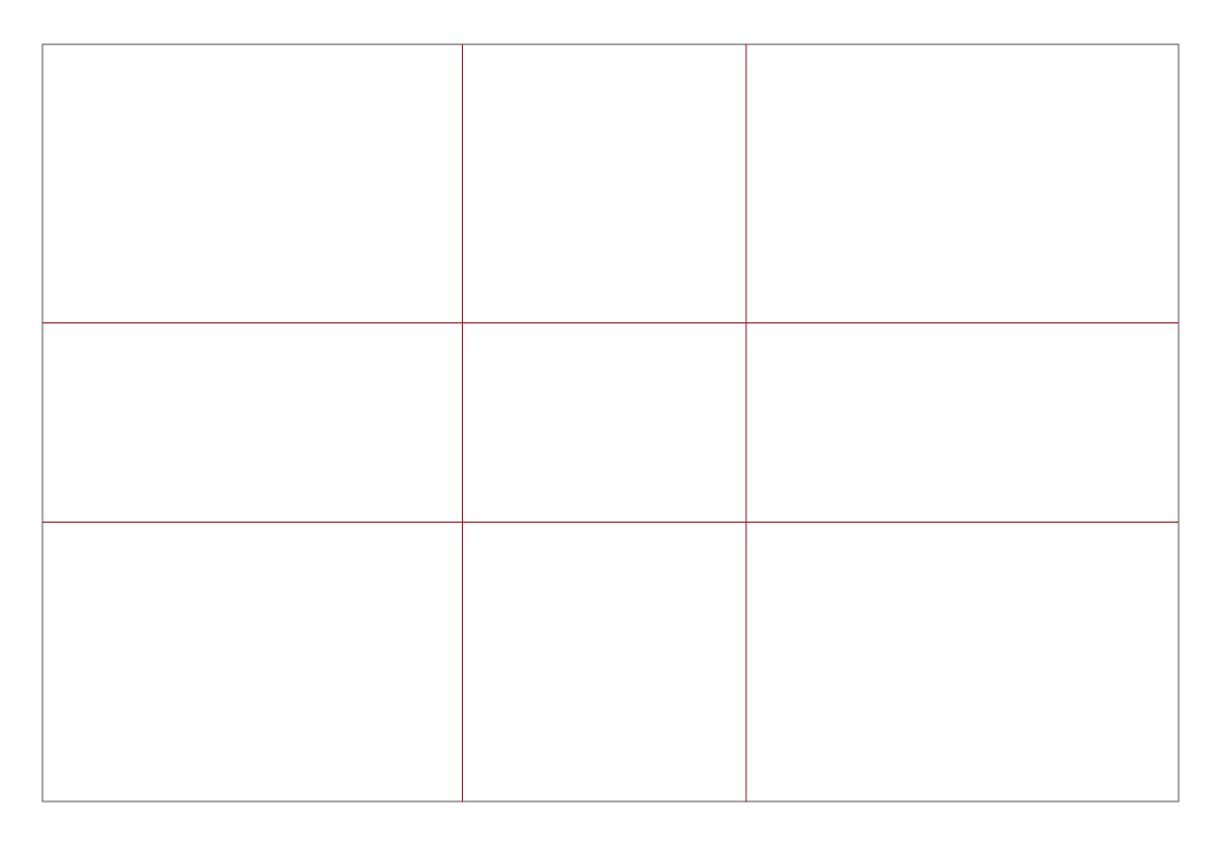Rammer som viser det gylne snitts linjer på et bilde